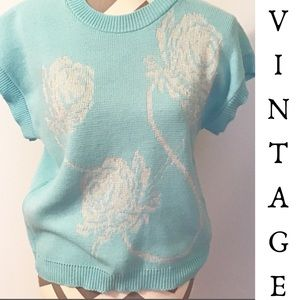 Vintage 80's Short Sleeve Sweater